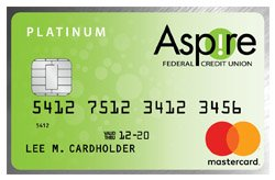 Platinum Mastercard<sup>®</sup> from Aspire FCU