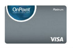 Platinum Visa<sup>®</sup> with Rewards from On Point Community CU