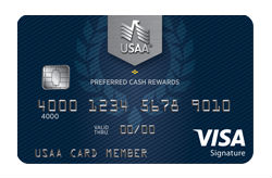 Preferred Cash Rewards Visa Signature® Card from USAA