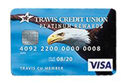 Platinum Rewards VISA Card from Travis CU