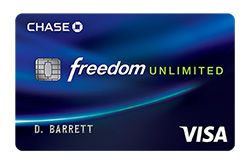 Chase Freedom Unlimited<sup>®</sup>