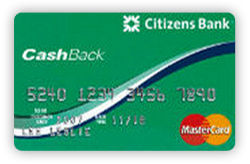 CashBack Platinum MasterCard from Citizens Bank