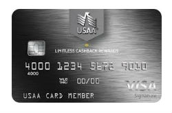 LIMITLESS™ CASHBACK REWARDS VISA SIGNATURE® CARD from USAA