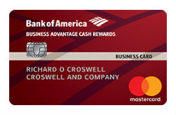 Bank of America<sup>®</sup> Business Advantage Cash Rewards Mastercard<sup>®</sup>  credit card