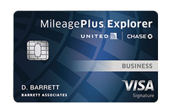 United MileagePlus<sup>®</sup> Explorer Business Card from Chase Bank