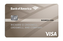 Bank of America<sup>®</sup> Platinum Visa<sup>®</sup> Business Credit Card