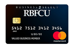 RBFCU Business Select Mastercard<sup>®</sup> credit card