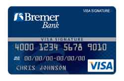 Visa  Bonus Rewards PLUS Card from Bremer Bank