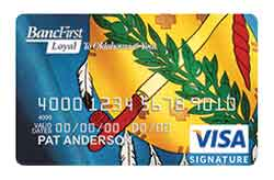 Visa Bonus Rewards Plus Card from BancFirst Corporation